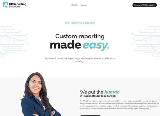 Custom HR Reporting Website
