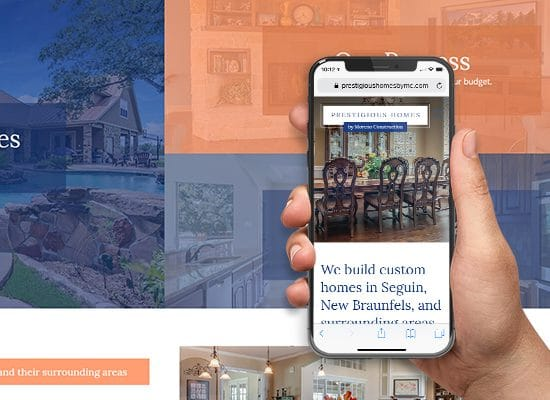 Custom Home Builder Website Design