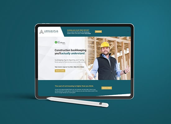 Construction Bookkeeping Services Web Design