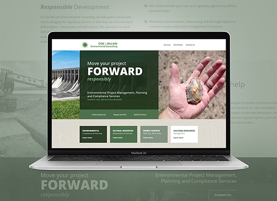 Environmental & Planning Compliance Website Design