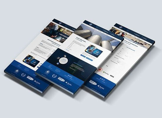 Industrial Construction Company Website Design