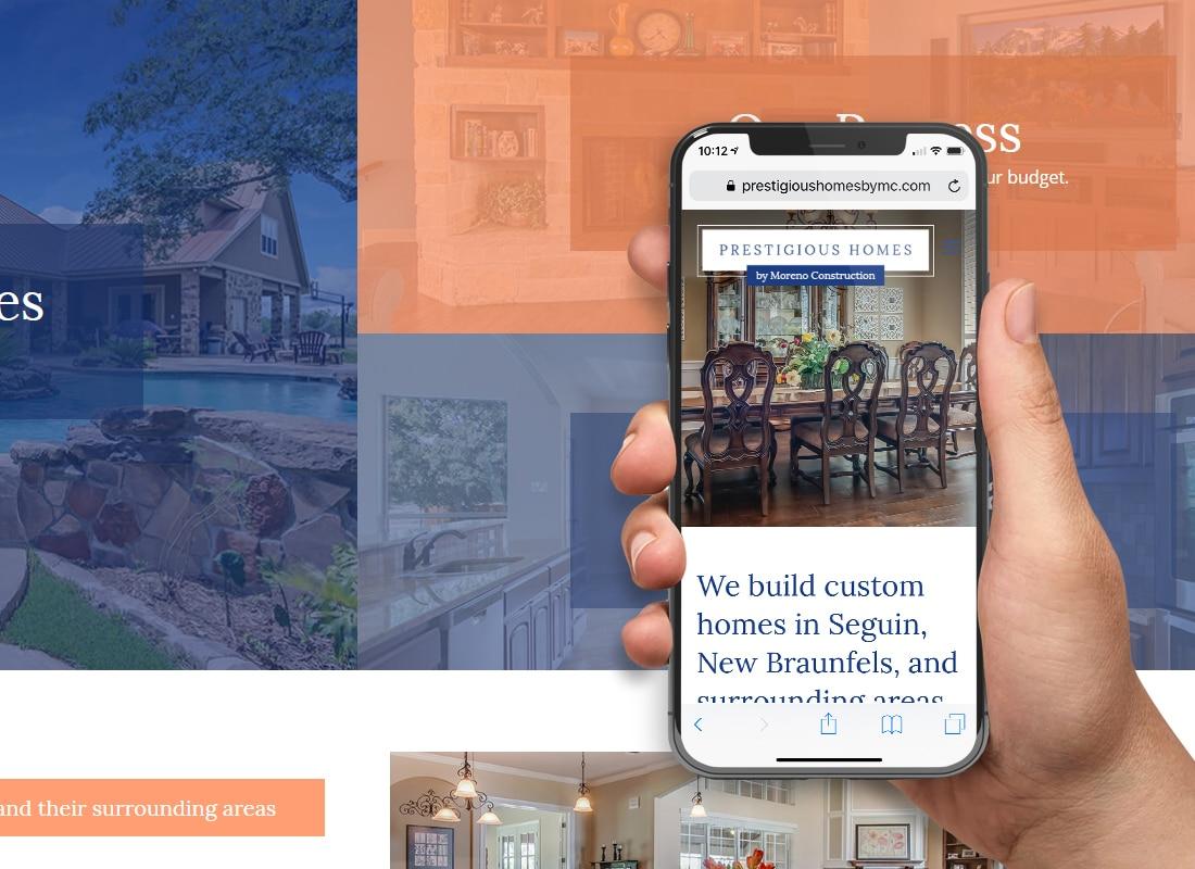 New Braunfels custom home builder website designer