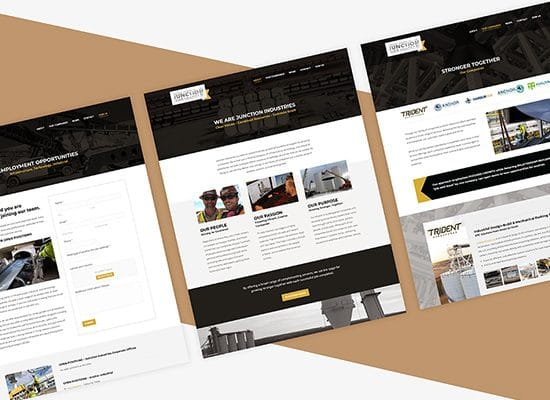 Industrial Company Website Design