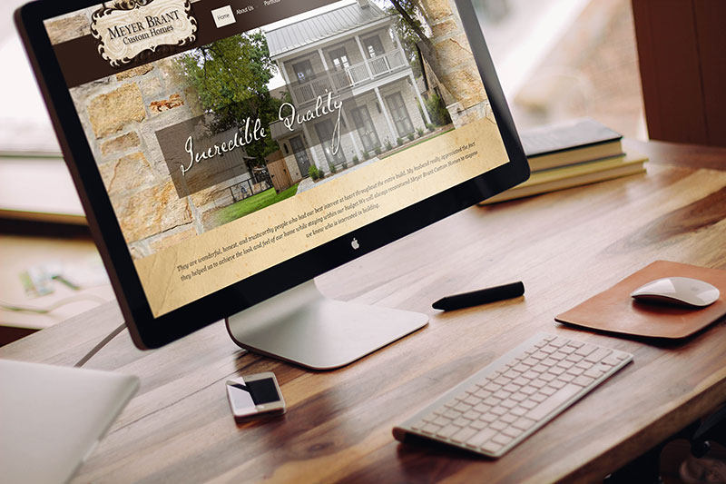 Website Design Branding for A Custom Home Builder Andrea Garza