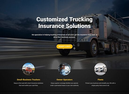 Trucking Insurance Website Design