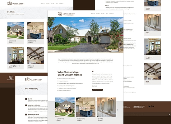 Website Design & Branding for A Custom Home Builder