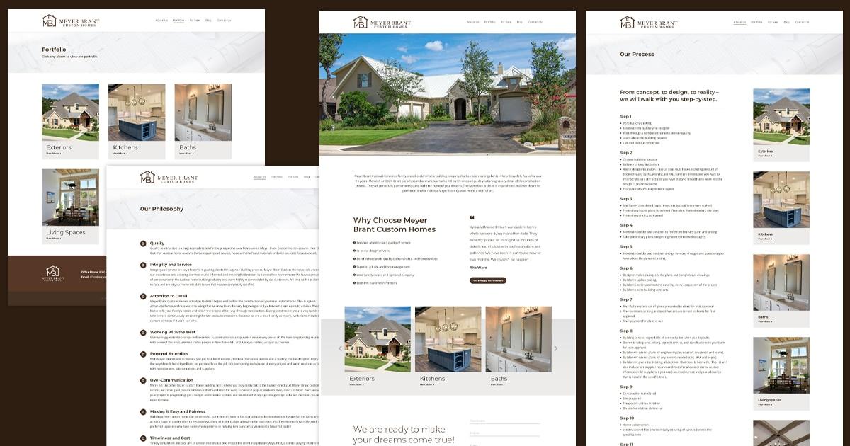 new braunfels website designer for custom home builder social media sharing