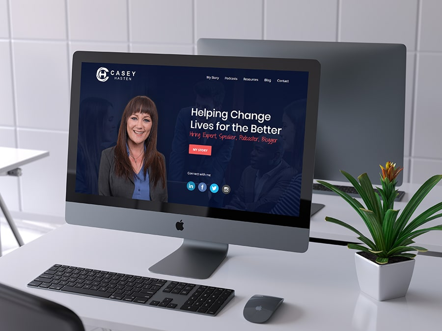 New Braunfels web design for professional recruiter in Dallas