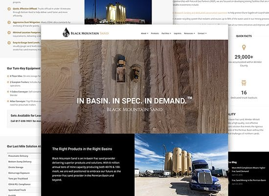 Oil & Gas Website Design