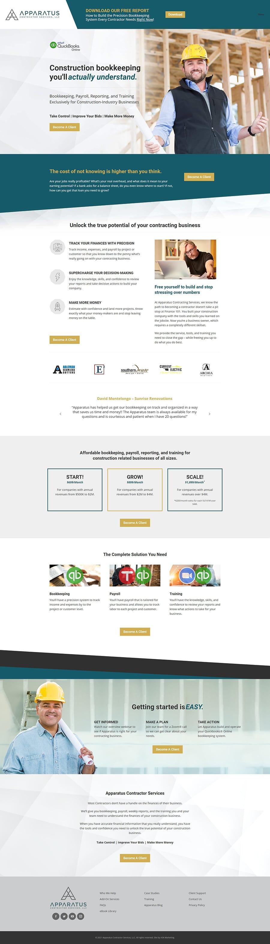 wordpress web design for accounting companies